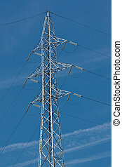 Electrical tower (3) - Electrical tower at power station (3)