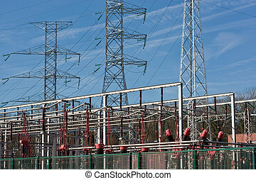 Transformers and electrical towers - Electrical towers...