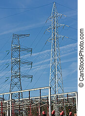 Electrical tower (4) - Electrical tower at power station (4)