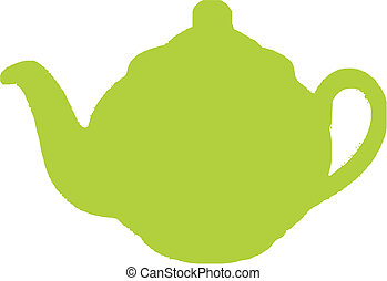 green teapot - isolated - green teapot isolated vector...