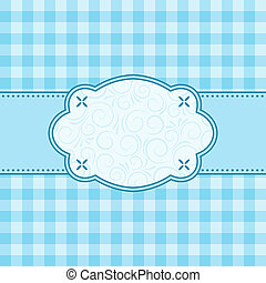 Blue frame. Vector illustration.