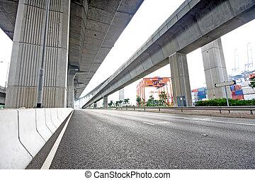 highway under the bridge