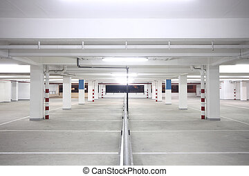 parking - indoor carpark atnight in wode angle