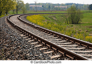 Railroad Track - Turning Railroad Track in the Spring...
