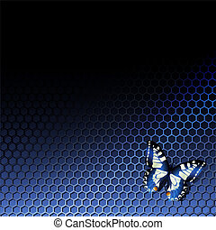 tech background with butterfly