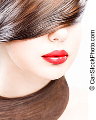 lips and hair