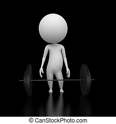 3d rendered illustration of a guy lifting weights