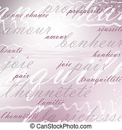 best wishes french background