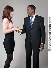 Business man meeting a colleague