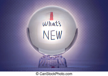 What is new, words in magic crystal ball - Whats new, words...