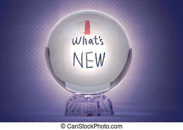 qué, nuevo, palabras, magia, cristal, Pelota