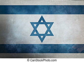 Grunge Israeli Flag - Israeli Flag on old and vintage grunge...