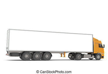 Transportation - Tractor Trailer Semi-Truck. Part of...