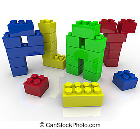 Play - Creative and Imaginative Learning with Building Blocks