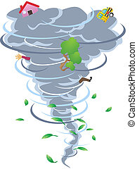 the sign of tornado - the cartoon style of tornado