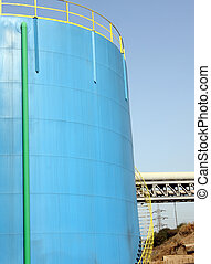 Petrol blue tank - A big petrol blue tank to deposit...