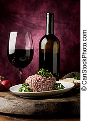 Risotto with red wine - photo of delicious risotto with red...