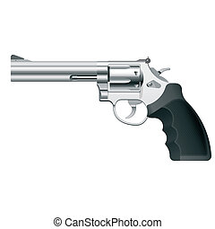 Revolver - Detailed vector illustration of a revolver