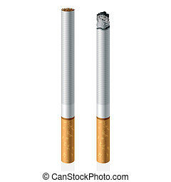Cigarettes - Vector illustration of cigarettes