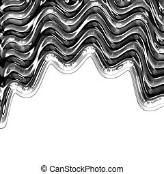 liquid metal abstract background