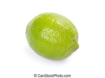 lime  - Fresh ripe lime isolated on white background