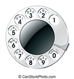 Retro telephone dial - Vector illustration of a telephone...