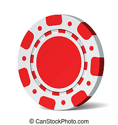 Poker chip - Vector illustration of a blank poker chip