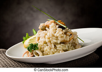Risotto with Seafood - photo of delicious risotto with...