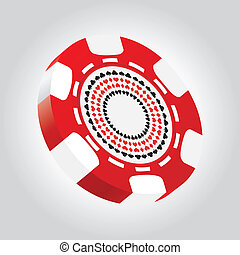 Special 3d poker chip