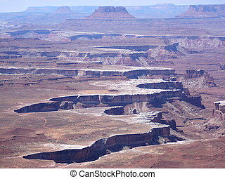 Canyonlands - A view of Canyonlands, Utah US
