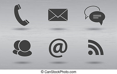 Stylish modern communication icons