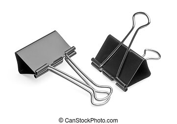 big binder clips for paper - two big black binder clips for...