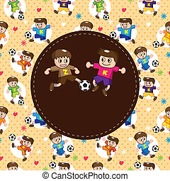 cartoon soccer player card