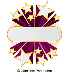 Star banner - Vector illustration of a star banner