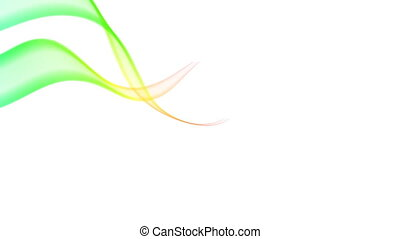 Two Ribbons - Two swirling multicolored ribbon flowing...