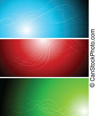 Banners with abstract lines