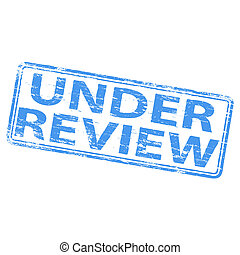 Under Review Stamp - Rubber stamp illustration showing...