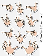 set of gestures sticker