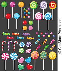 słodycze, Cukierek, komplet