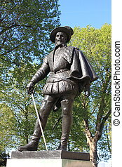 Sir Walter Raleigh statue - Greenwich statue of Sir Walter...