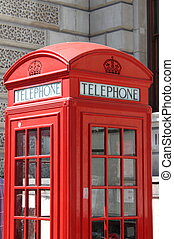 London red telephone box - Detail of the typical London red...