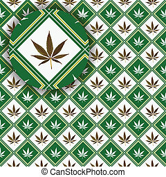 cannabis texture with detail, abstract vector art...