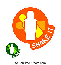 Shake it sticker - Vector illustration of Shake it sticker