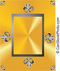 Fleur de lis elegance in a frame - Fleur de lis, grouped...