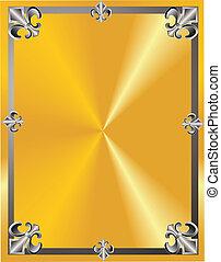 Fleur de lis abstract.. - Elegant fleur de lis frame on...