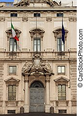 Constitutional Court palace - The facade of Constitutional...