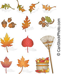 Autumn Leaves - Vector art in Illustrator 8. All things...