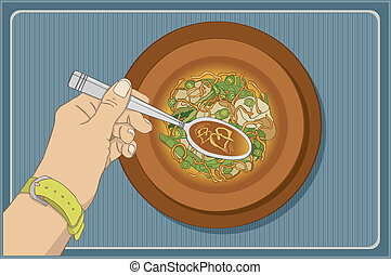 Won Ton Love - Vector art in Illustrator 8. Jennifer began...