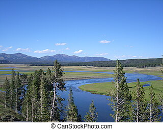 Eden garden in Yellowstone - A landscape view of Yellowstone...