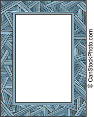 CrissCross Frame - Vector art in Illustrator 8. Hand-drawn,...